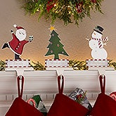 Engraved Christmas Mantle Stocking Holders - 19541