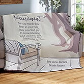 Personalized Retirement Throw Blanket - Embrace The Future - 19548