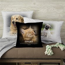 Personalized Photo Pillows - Pet Memorial - 19549