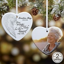 Personalized Memorial Ornaments - Angel Wings - 19551