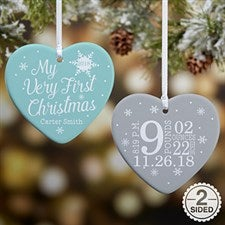 My Very First Christmas Personalized Baby Ornaments - 19552