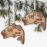 Personalized Bass Fishing Ornament - 19564