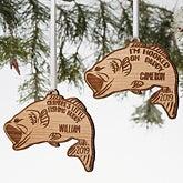 Personalized Bass Fishing Ornament - 19564