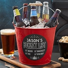 Personalized Metal Beer Buckets - Bucket List - 19576