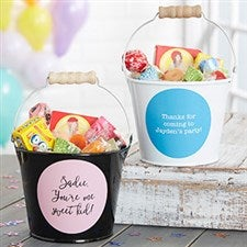 Personalized Mini Metal Party Favor Buckets - 19577