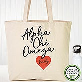 Personalized Alpha Chi Omega Sorority Tote Bag - 19595