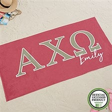 Alpha Chi Omega Personalized Beach Towel  - 19601