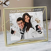 Engraved Photo Display Frame - Gold Prisma - 19617
