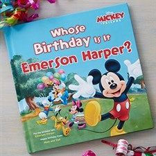 Personalized Mickey Mouse Kids Birthday Book - 19628D