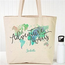 Personalized Canvas Tote - Adventure Awaits - 19659