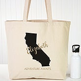 Personalized Canvas Tote - State Pride - 19660