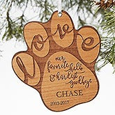 Personalized Pet Memorial Ornament - Hardest Goodbye - 19664