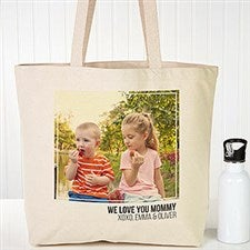 Personalized Photo Collage Canvas Tote Bags - 19665