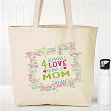 Personalized Canvas Tote - Reasons Why - 19667