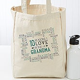 Personalized Small Canvas Tote Bag - Reasons Why - 19668