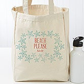 Personalized Beach Tote Bag - Coastal Designs - 19671