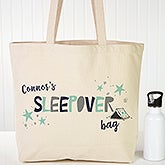 Personalized Boys Sleepover Tote Bag - 19673