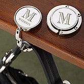 Engraved Monogram Purse Hanger For Table - 19678