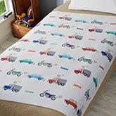 Personalized Cars & Trucks Sweatshirt Blanket for Boys - 19682