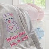 Custom Baby Girl Blanket - Lovable Characters - 19683