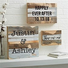 Reclaimed Wood Wall Art - Add Any Text - 19696