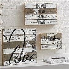 LOVE Reclaimed Wood Wall Art - 19700