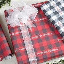 Personalized Wrapping Paper - Buffalo Check - 19727