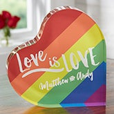 Love Is Love Personalized Rainbow Keepsake - 19735