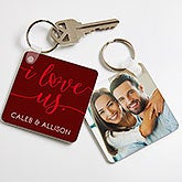 I Love Us Personalized Photo Keychain  - 19740