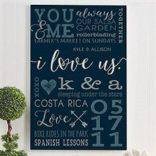 Couples Personalized Canvas Prints - I Love Us - 19745