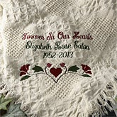 personalized heart afghan unique gift for a death in the family