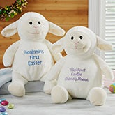 Baby's First Easter Personalized Plush Lamb - 19752