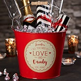 Personalized Metal Gift Bucket - All I Need Is Love - 19755