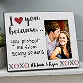 Personalized Dry Erase Picture Frame - I Love You Because - 19782