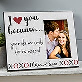 Personalized Picture Frame - I Love You Because - 19782