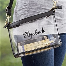 Personalized Clear Stadium Crossbody Purse - 19794
