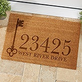House Key Personalized Address Coir Doormat - 19818