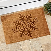 Stamped Snowflake Personalized Coir Doormat - 19820