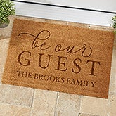 Be Our Guest Personalized Coir Doormat - 19821