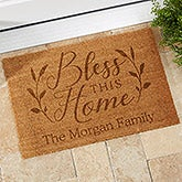 Bless This Home Personalized Coir Doormats - 19822