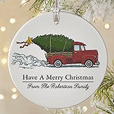 Personalized Vintage Truck Christmas Ornament - 19826