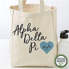 Personalized Alpha Delta Pi Tote Bag - Small - 19832