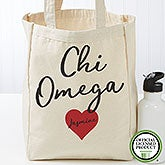 Personalized Chi Omega Tote Bag - Small - 19836