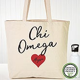 Personalized Chi Omega Sorority Tote Bag - 19837