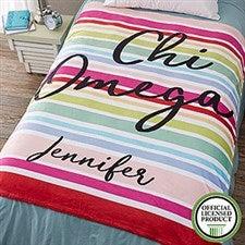 Personalized Sorority Blankets - Chi Omega - 19838