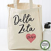 Personalized Delta Zeta Sorority Tote Bag - Small - 19848
