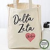 Delta Zeta Personalized Petite Tote Bag - 19848