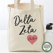 Personalized Delta Zeta Sorority Tote Bag - Small - 19848