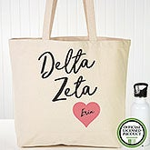 Personalized Delta Zeta Sorority Canvas Tote Bag - 19849