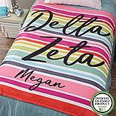 Personalized Sorority Blankets - Delta Zeta - Fleece - 19850